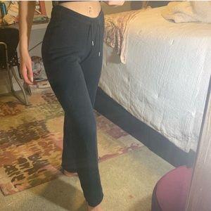 Black nike drawstring sweatpants